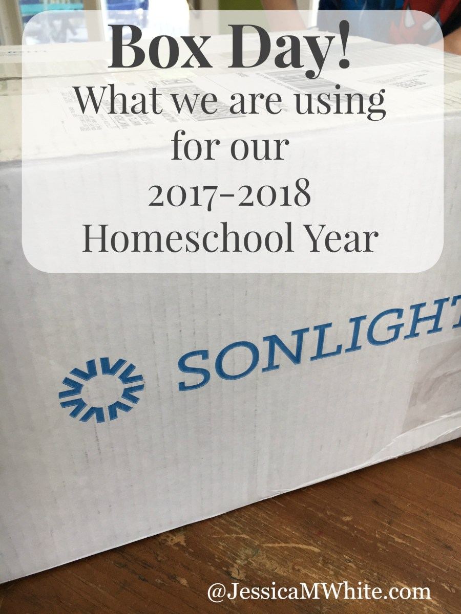 Box Day! Our 2017-2018 Homeschool Curriculum